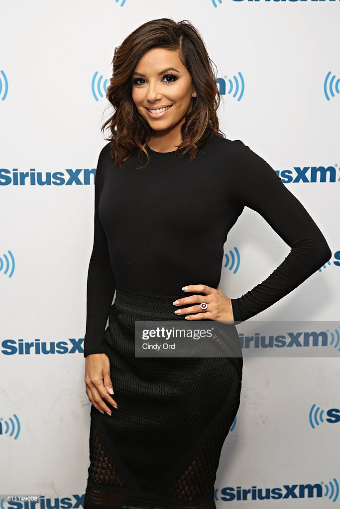 Actress Eva Longoria visits the SiriusXM Studios on February 18 2016 in New York City