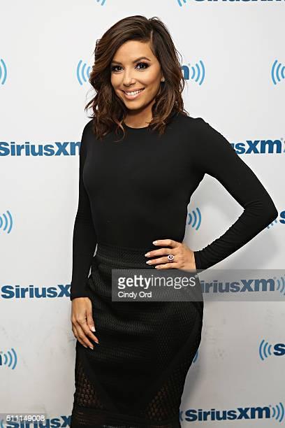 Actress Eva Longoria visits the SiriusXM Studios on February 18 2016 in New York City