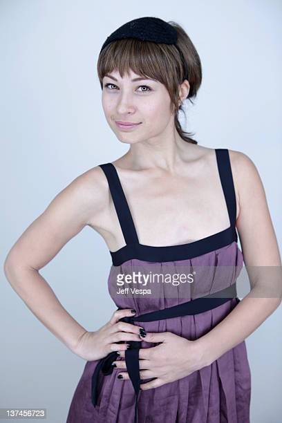 Actress Eva Mah poses for a portrait during the 2012 Sundance Film Festival at the WireImage Portrait Studio at TMobile Village at the Lift on...