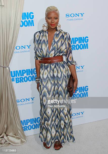 Actress Eva Marcille arrives at the 'Jumping The Broom' Los Angeles premiere at ArcLight Cinemas Cinerama Dome on May 4 2011 in Hollywood California