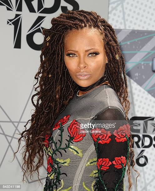Actress Eva Marcille attends the 2016 BET Awards at Microsoft Theater on June 26 2016 in Los Angeles California