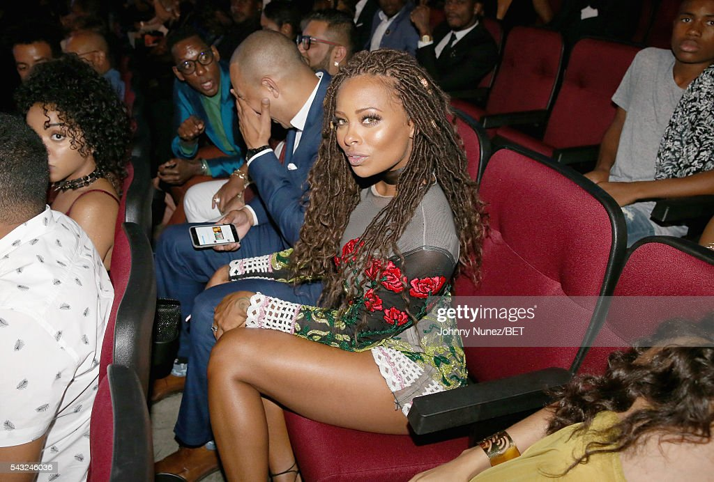 Actress <a gi-track='captionPersonalityLinkClicked' href=/galleries/search?phrase=Eva+Marcille&family=editorial&specificpeople=208986 ng-click='$event.stopPropagation()'>Eva Marcille</a> attends the 2016 BET Awards at the Microsoft Theater on June 26, 2016 in Los Angeles, California.