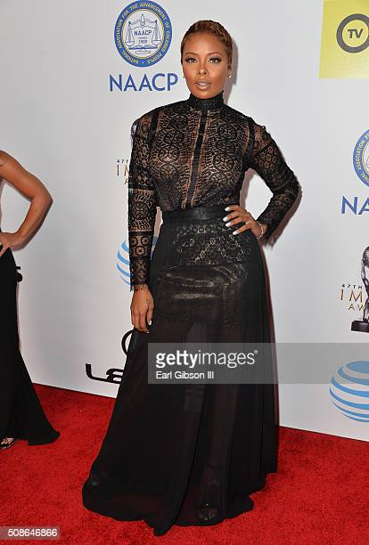 Actress Eva Marcille attends the 47th NAACP Image Awards presented by TV One at Pasadena Civic Auditorium on February 5 2016 in Pasadena California