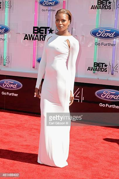 Actress Eva Marcille attends the BET AWARDS '14 at Nokia Theatre LA LIVE on June 29 2014 in Los Angeles California