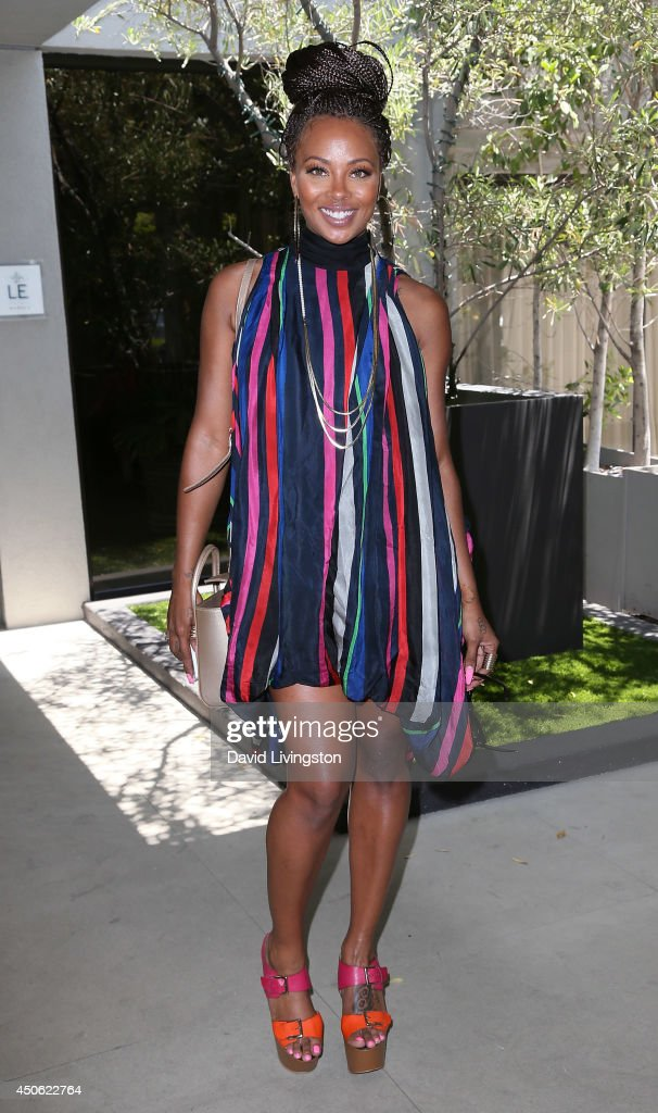 Actress <a gi-track='captionPersonalityLinkClicked' href=/galleries/search?phrase=Eva+Marcille&family=editorial&specificpeople=208986 ng-click='$event.stopPropagation()'>Eva Marcille</a> attends the LadyLike Foundation's 6th Annual Women of Excellence Scholarship Luncheon at the Luxe Hotel on June 14, 2014 in Los Angeles, California.