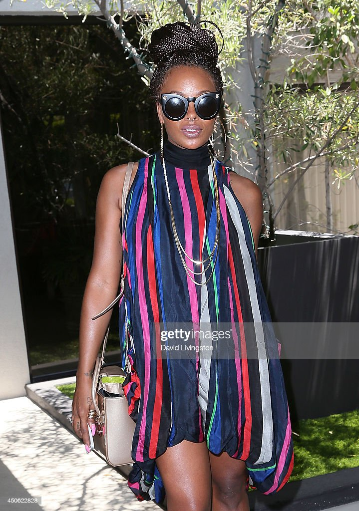 Actress Eva Marcille attends the LadyLike Foundation's 6th Annual Women of Excellence Scholarship Luncheon at the Luxe Hotel on June 14, 2014 in Los Angeles, California.