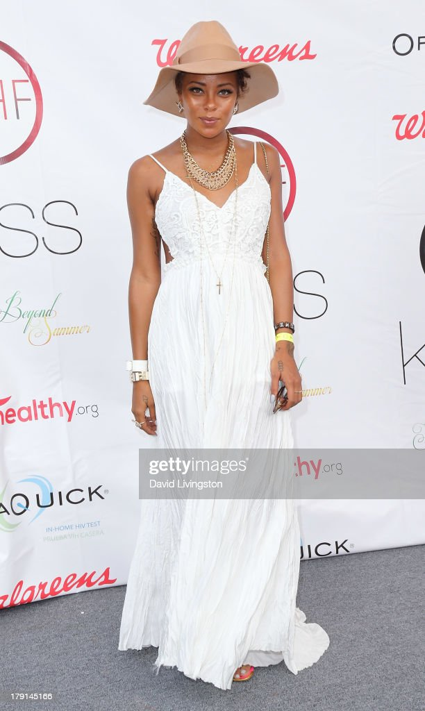 Actress Eva Marcille attends the Reed for Hope Foundation's 11th Annual 'Sunshine Beyond Summer' celebration at a private residence on August 31, 2013 in Westlake Village, California.