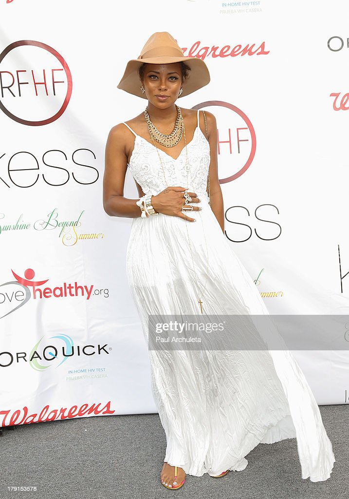 Actress Eva Marcille attends the Reed For Hope Foundation's 11th annual 'Sunshine Beyond Summer' celebration on August 31, 2013 in Westlake Village, California.