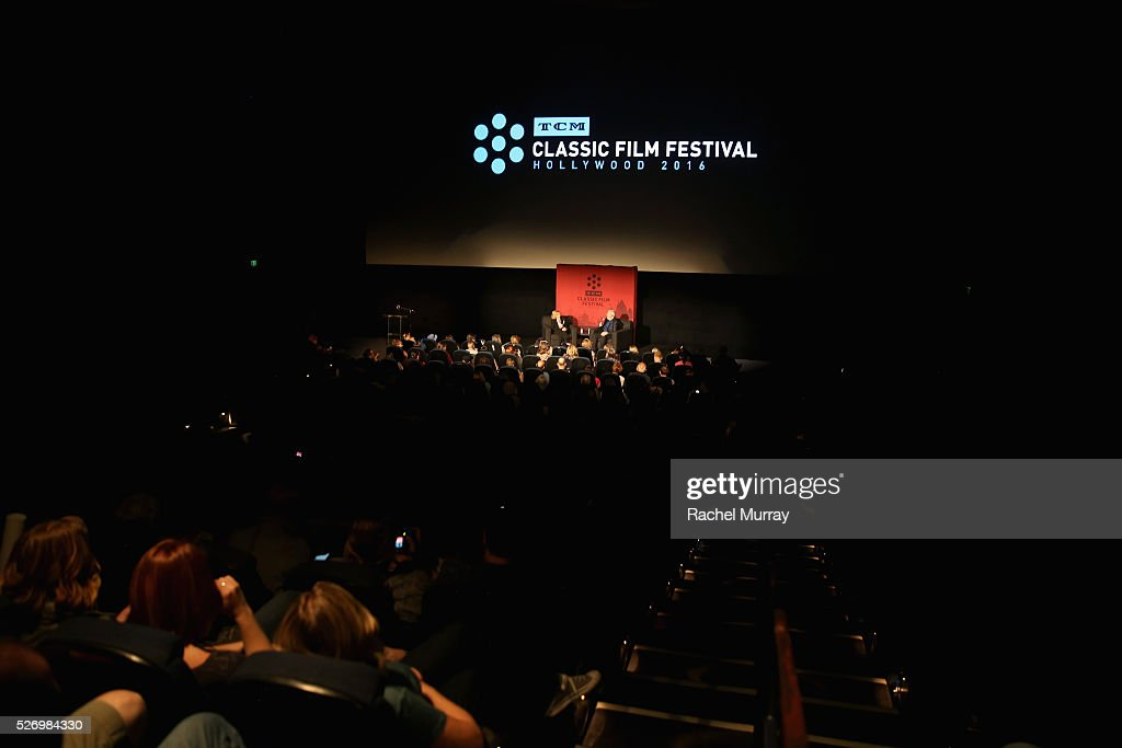 Actress Eva Marie Saint (L) and film critic Leonard Maltin speak onstage at 'The Russians Are Coming, the Russians Are Coming' screening during day 4 of the TCM Classic Film Festival 2016 on May 1, 2016 in Los Angeles, California. 25826_007