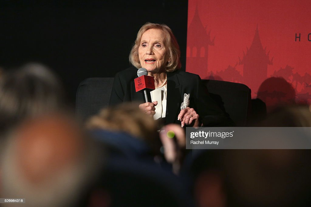 Actress Eva Marie Saint speaks onstage at 'The Russians Are Coming, the Russians Are Coming' screening during day 4 of the TCM Classic Film Festival 2016 on May 1, 2016 in Los Angeles, California. 25826_007
