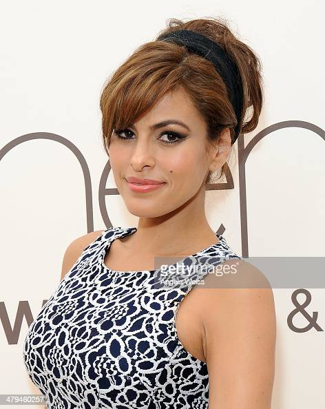 Actress Eva Mendes and New York Company launch the Eva Mendes for NYC Spring 2014 collection with a popup shop at The Beverly Center on March 18 2014...