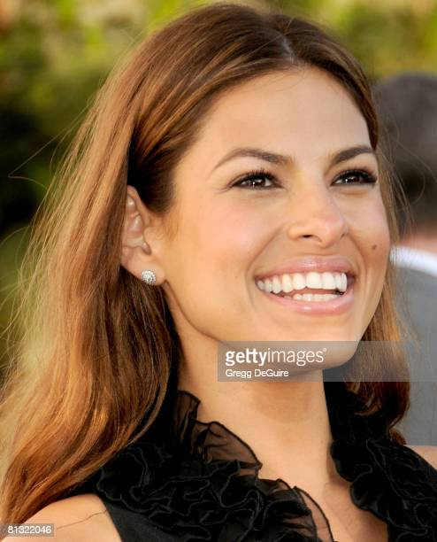 Actress Eva Mendes arrives at 7th Annual Chrysalis Butterfly Ball on May 31 2008 at a Private Residence in Los Angeles California