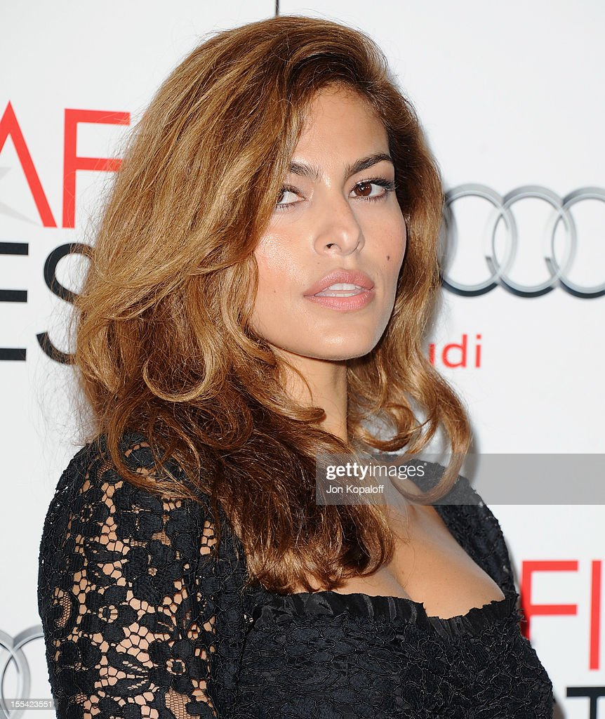 Actress Eva Mendes arrives at the 2012 AFI FEST - 'Holy Motors' Special Screening at Grauman's Chinese Theatre on November 3, 2012 in Hollywood, California.