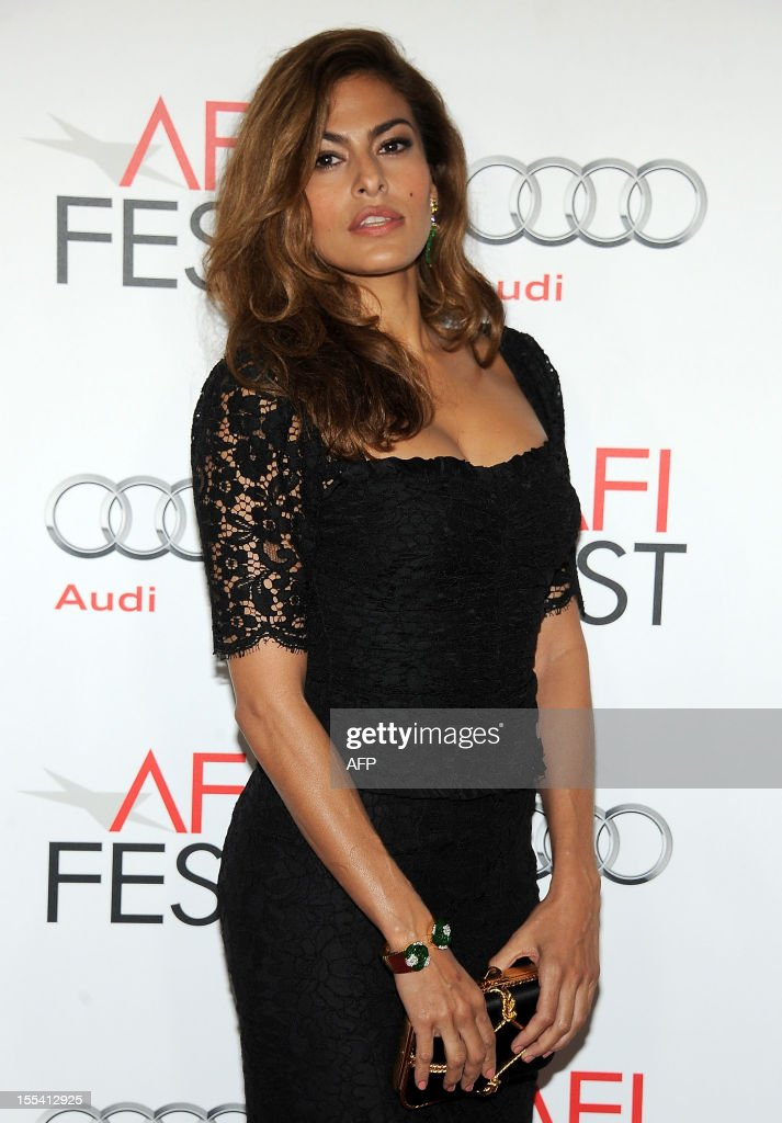Actress Eva Mendes arrives at the 'Holy Motors' Special Screening during the 2012 AFI Fest presented by Audi at Grauman's Chinese Theatre in Hollywood, California, on November 3, 2012. AFP PHOTO/VALERIE MACON arrives at the Premiere of CBS Films' Salmon Fishing in the Yemen, in Los Angeles, California, on March 5, 2012. AFP PHOTO/VALERIE MACON arrives at the Premiere of CBS Films' Salmon Fishing in the Yemen, in Los Angeles, California, on March 5, 2012. AFP PHOTO/VALERIE MACON arrives at the Premiere of CBS Films' Salmon Fishing in the Yemen, in Los Angeles, California, on March 5, 2012.