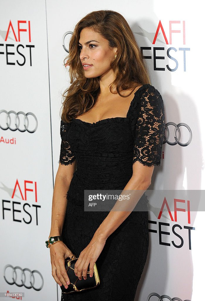 Actress Eva Mendes arrives at the 'Holy Motors' Special Screening during the 2012 AFI Fest presented by Audi at Grauman's Chinese Theatre in Hollywood, California, on November 3, 2012. AFP PHOTO/VALERIE MACON arrives at the Premiere of CBS Films' Salmon Fishing in the Yemen, in Los Angeles, California, on March 5, 2012. AFP PHOTO/VALERIE MACON arrives at the Premiere of CBS Films' Salmon Fishing in the Yemen, in Los Angeles, California, on March 5, 2012. AFP PHOTO/VALERIE MACON arrives at the Premiere of CBS Films' Salmon Fishing in the Yemen, in Los Angeles, California, on March 5, 2012. AFP PHOTO/VALERIE MACON