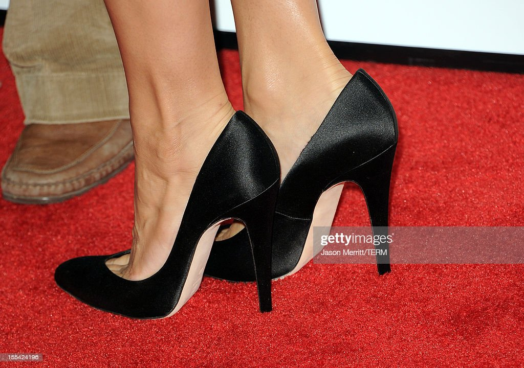 Actress Eva Mendes (shoe detail) arrives at the 'Holy Motors' special screening during the 2012 AFI Fest at Grauman's Chinese Theatre on November 3, 2012 in Hollywood, California.