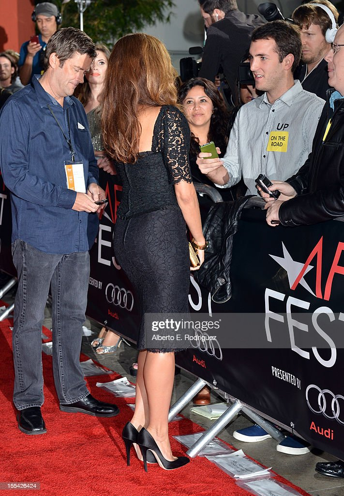 Actress Eva Mendes arrives at the 'On The Road' premiere during the 2012 AFI Fest presented by Audi at Grauman's Chinese Theatre on November 3, 2012 in Hollywood, California.