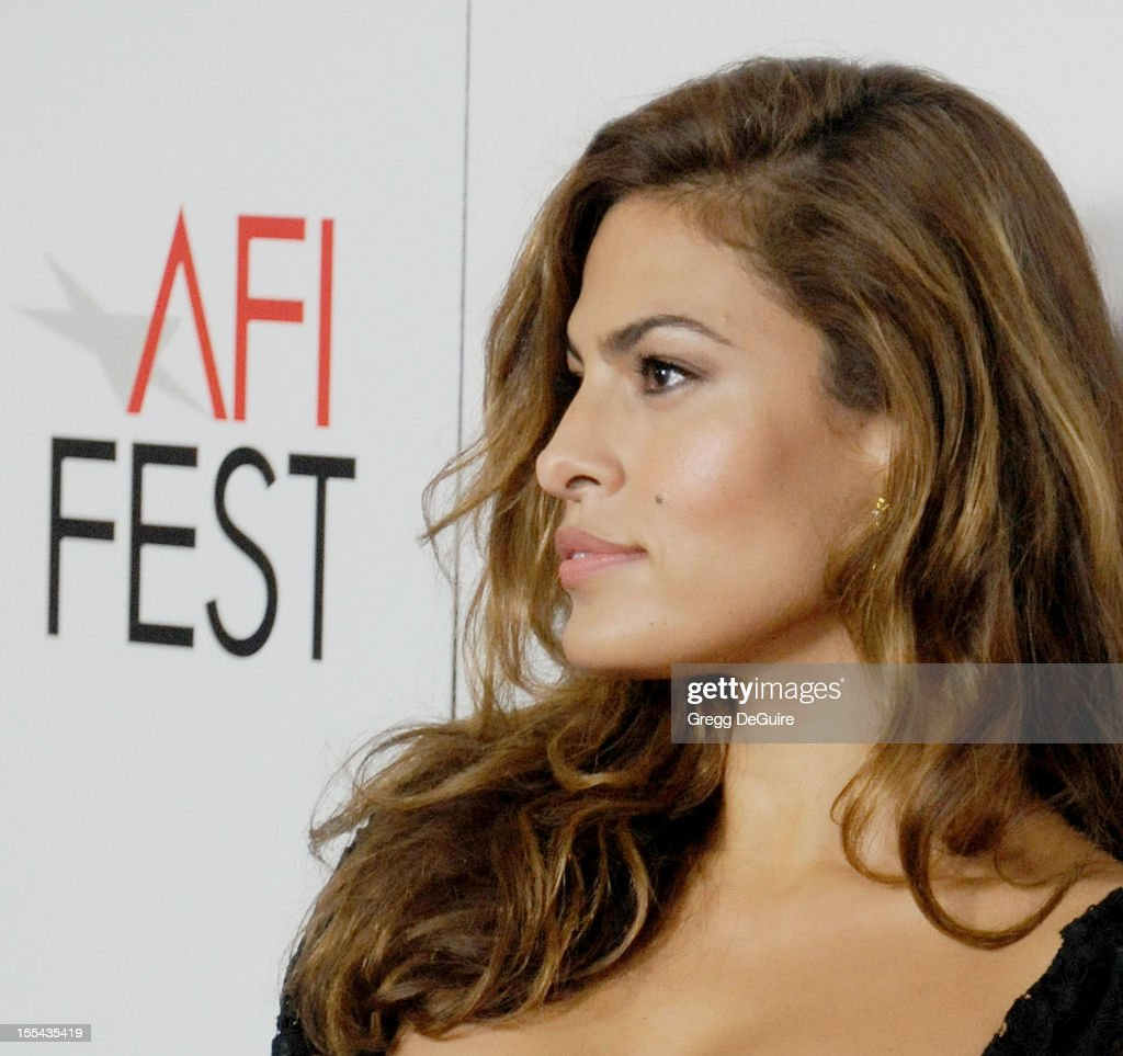 Actress Eva Mendes arrives at the special screening of 'Holy Motors' during the 2012 AFI FEST at Grauman's Chinese Theatre on November 3, 2012 in Hollywood, California.