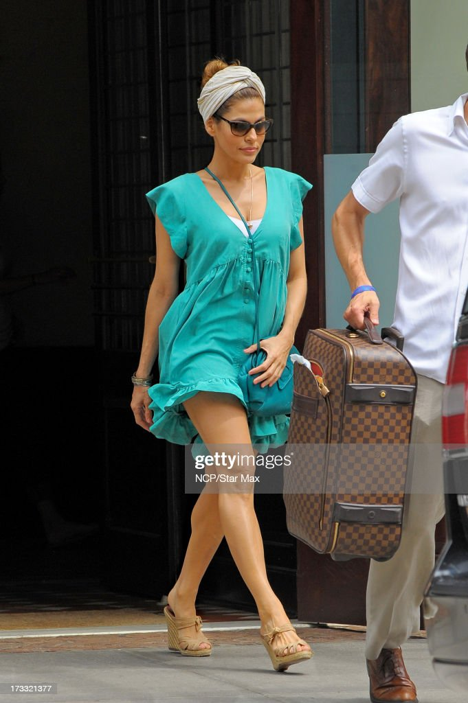 Actress <a gi-track='captionPersonalityLinkClicked' href=/galleries/search?phrase=Eva+Mendes&family=editorial&specificpeople=194937 ng-click='$event.stopPropagation()'>Eva Mendes</a> as seen on July 11, 2013 in New York City.