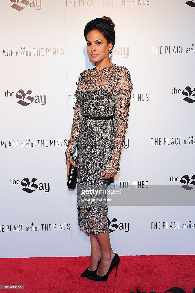 Actress Eva Mendes at the HBC Hosted Party For Alliance Films' The Place Beyond The Pines during the 2012 Toronto International Film Festival on...