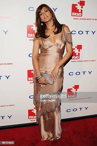 Actress Eva Mendes attends DKMS' 4th Annual Gala Linked Against Leukemia at Cipriani 42nd Street on April 29 2010 in New York City