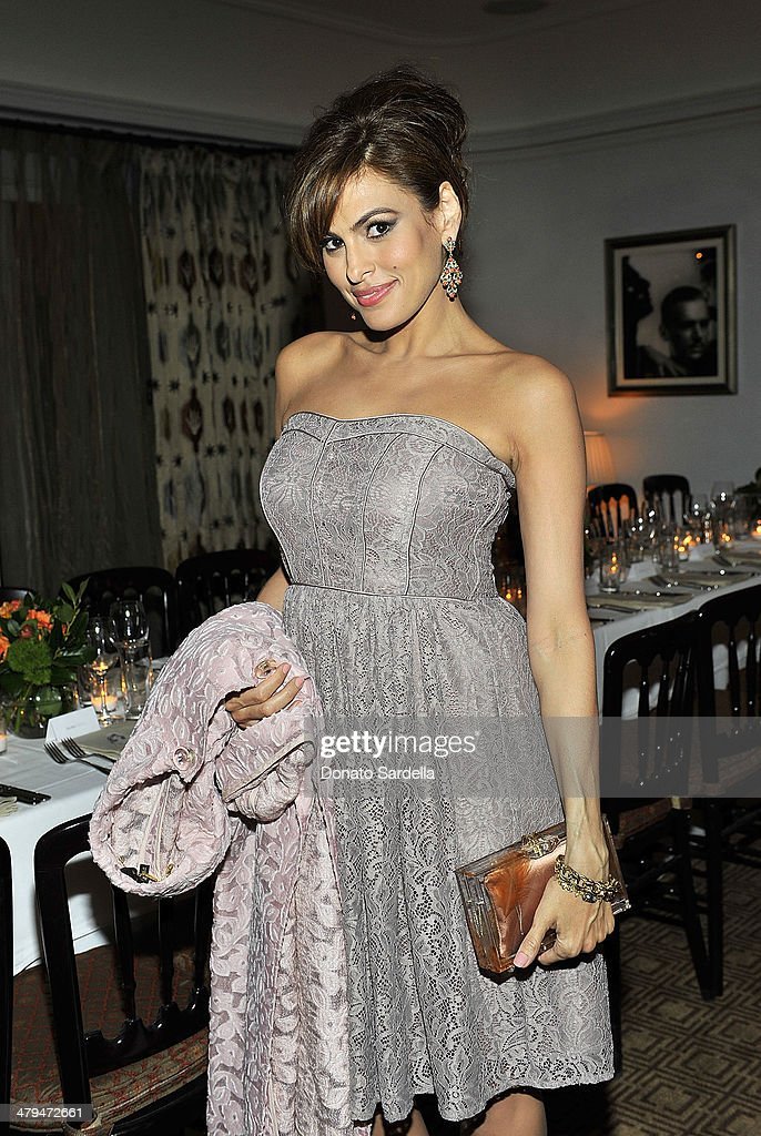 Actress Eva Mendes attends Eva Mendes Exclusively at New York & Company Spring launch dinner at Chateau Marmont on March 18, 2014 in Los Angeles, California.