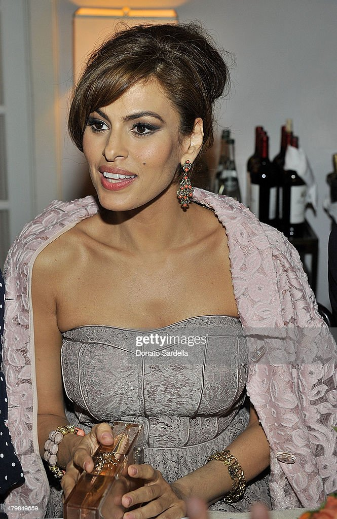 Actress Eva Mendes attends Eva Mendes Exclusively at New York & Company Spring launch dinnerat Chateau Marmont on March 18, 2014 in Los Angeles, California.