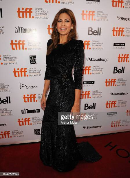 Actress Eva Mendes attends 'Last Night' Premiere during the 35th Toronto International Film Festival at Roy Thomson Hall on September 18 2010 in...