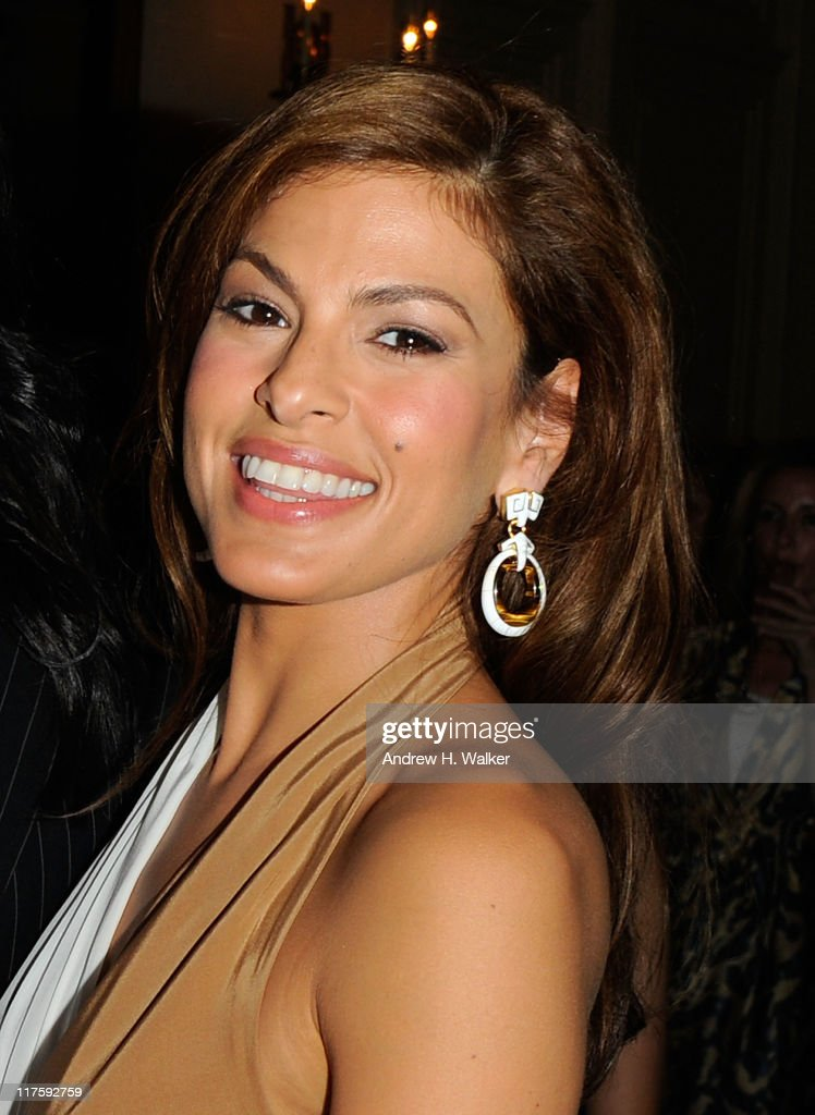 Actress <a gi-track='captionPersonalityLinkClicked' href=/galleries/search?phrase=Eva+Mendes&family=editorial&specificpeople=194937 ng-click='$event.stopPropagation()'>Eva Mendes</a> attends Salvatore Ferragamo's Women's Resort 2012 Collection at James B. Duke Mansion on June 28, 2011 in New York City.