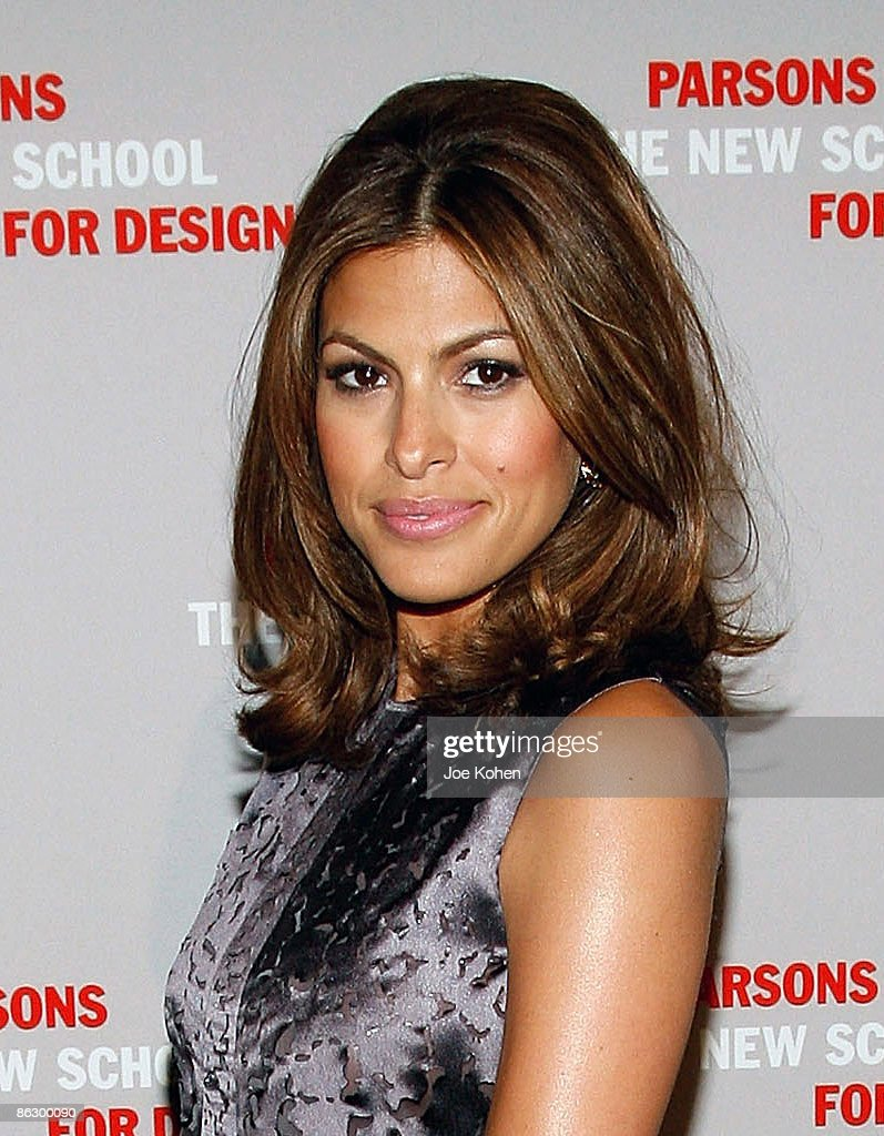 Actress Eva Mendes attends the 2009 Parsons Fashion benefit at Cipriani Wall Street on April 29 2009 in New York City