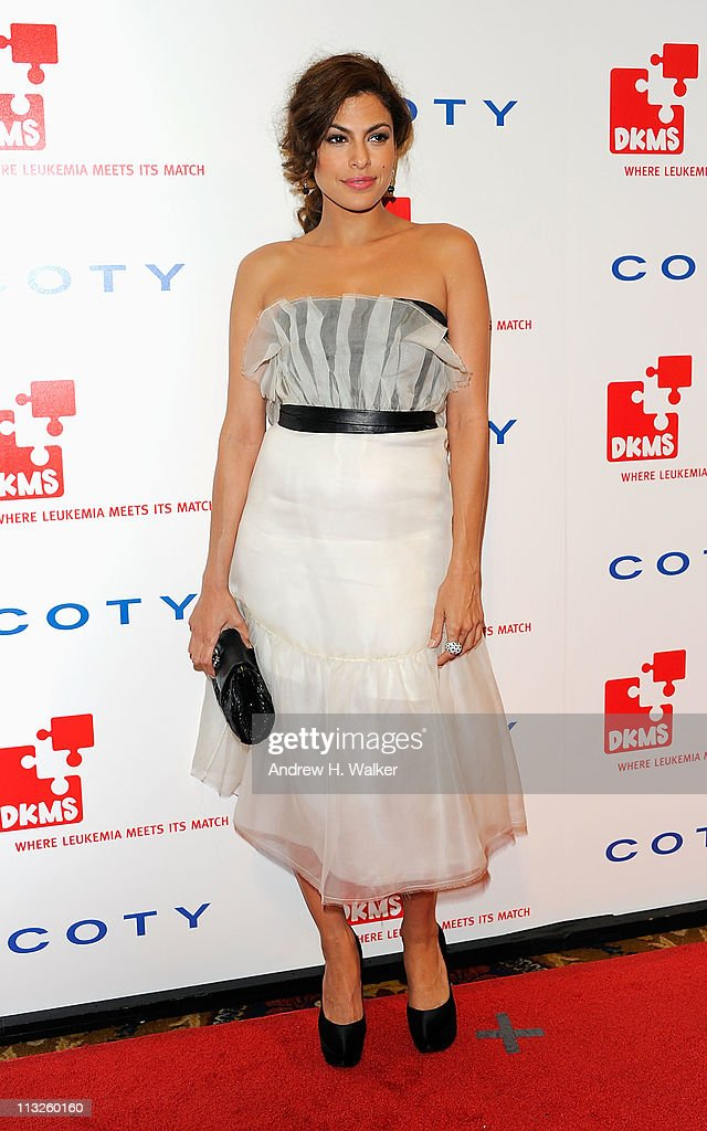 Actress Eva Mendes attends the DKMS' 5th Annual Gala: Linked Against Leukemia honoring Rihanna & Michael Clinton hosted by Katharina Harf at Cipriani Wall Street on April 28, 2011 in New York City.