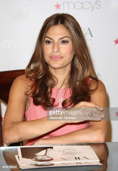 Eva Mendes Launch Of Vida At Macys Aventura Mall Photos And Images Getty Images