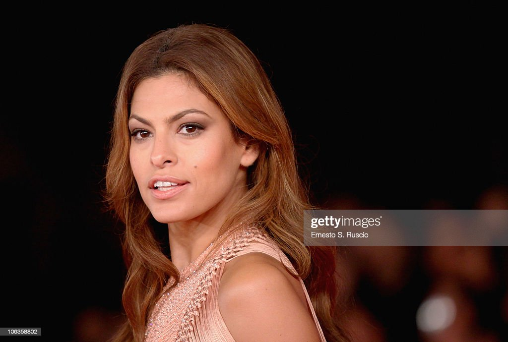 Actress Eva Mendes attends the 'Little White Lies' premiere during The 5th International Rome Film Festival at Auditorium Parco Della Musica on...