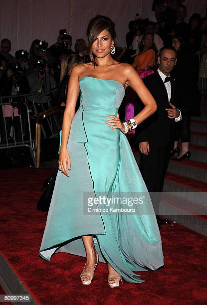 Actress Eva Mendes attends the Metropolitan Museum of Art Costume Institute Gala 'Superheroes Fashion And Fantasy' at the Metropolitan Museum of Art...