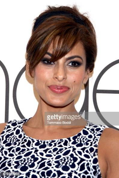 Actress Eva Mendes attends the New York and Company spring 2014 collection Pop Up Store launch party held at The Beverly Center on March 18 2014 in...