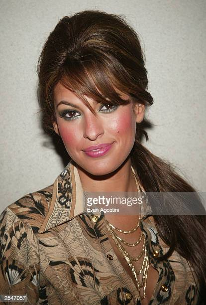 Actress Eva Mendes attends the 'Out Of Time' film premiere at Loews Cineplex Lincoln Square September 29 2003 in New York City