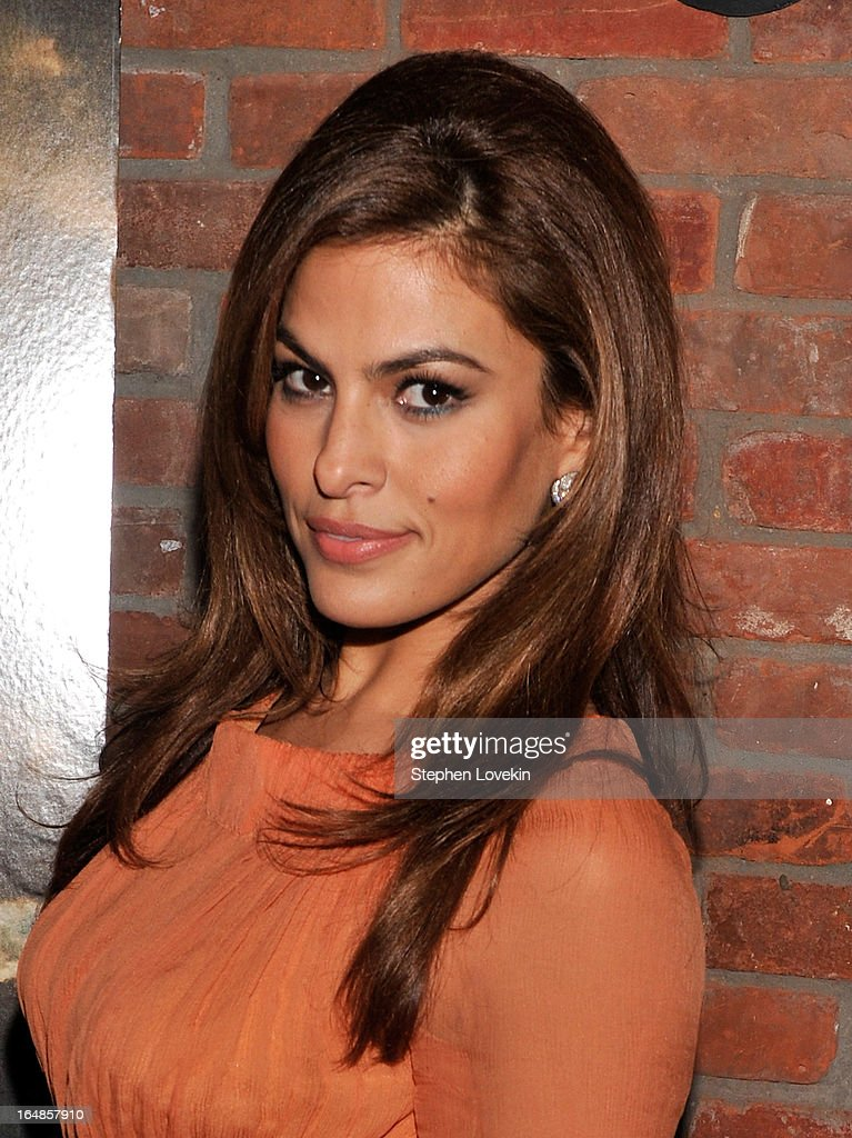 Actress <a gi-track='captionPersonalityLinkClicked' href=/galleries/search?phrase=Eva+Mendes&family=editorial&specificpeople=194937 ng-click='$event.stopPropagation()'>Eva Mendes</a> attends 'The Place Beyond The Pines' New York Premiere After Party at The Bowery Hotel on March 28, 2013 in New York City.