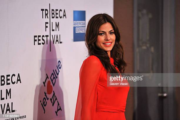 Actress Eva Mendes attends the premiere of 'Last Night' during the 2011 Tribeca Film Festival at BMCC Tribeca PAC on April 25 2011 in New York City