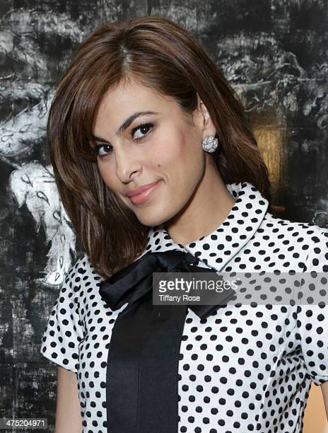 Actress Eva Mendes attends VIOLET GREY Honors Elizabeth Taylor At She's So Violet Salon Dinner on February 26 2014 in Los Angeles California