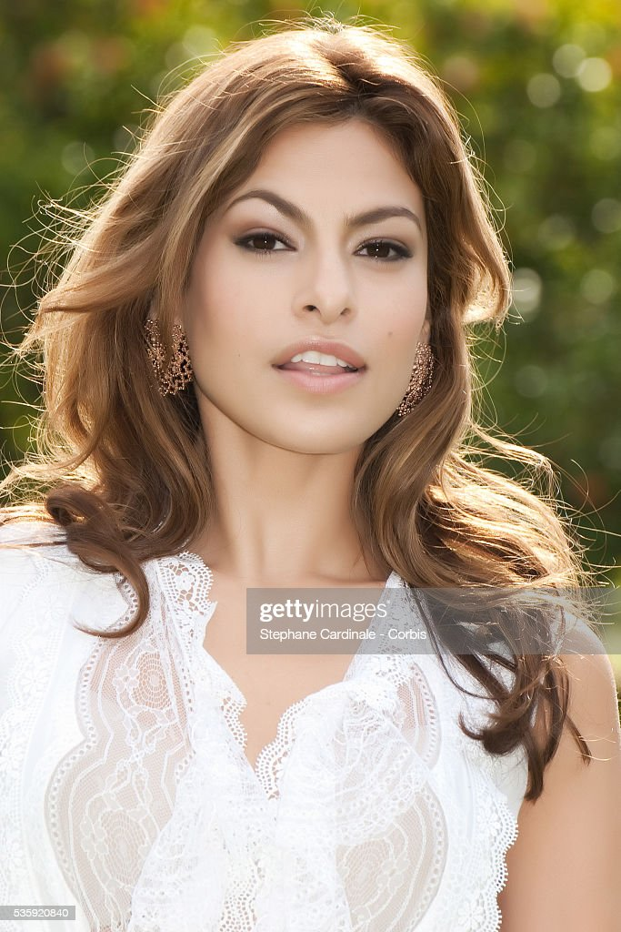 Actress Eva Mendes poses for a Photocall during the 10th Marrakech Film Festival, in Marrakech.