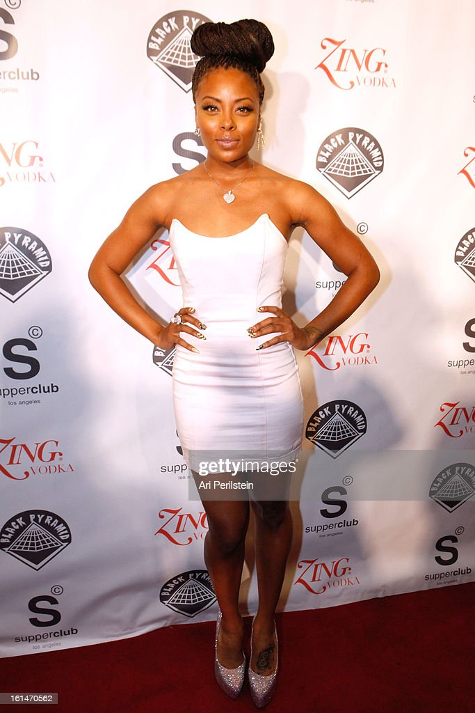Actress Eva Pigford arrives at Post Grammy Party At Supperclub Hosted By Chris Brown And ZING Vodka Los Angeles on February 10, 2013 in Los Angeles, California.