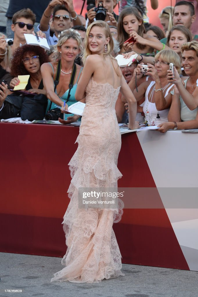Actress <a gi-track='captionPersonalityLinkClicked' href=/galleries/search?phrase=Eva+Riccobono&family=editorial&specificpeople=885062 ng-click='$event.stopPropagation()'>Eva Riccobono</a> attends 'Gravity' premiere and Opening Ceremony during The 70th Venice International Film Festival at Sala Grande on August 28, 2013 in Venice, Italy.
