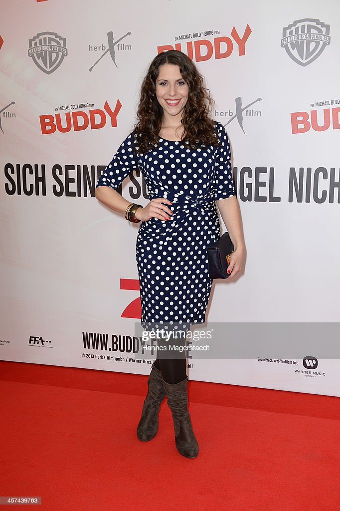 Actress Eva-Maria Reichert attends 'Buddy' Premiere at Mathaeser Filmpalast on December 17, 2013 in Munich, Germany.