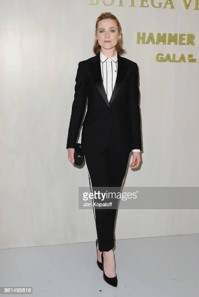 Actress Evan Rachel Wood arrives at Bottega Veneta Hosts Hammer Museum Gala In The Garden on October 14 2017 in Westwood California