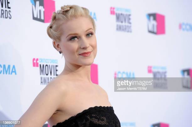 Actress Evan Rachel Wood arrives at the 17th Annual Critics' Choice Movie Awards held at The Hollywood Palladium on January 12 2012 in Los Angeles...