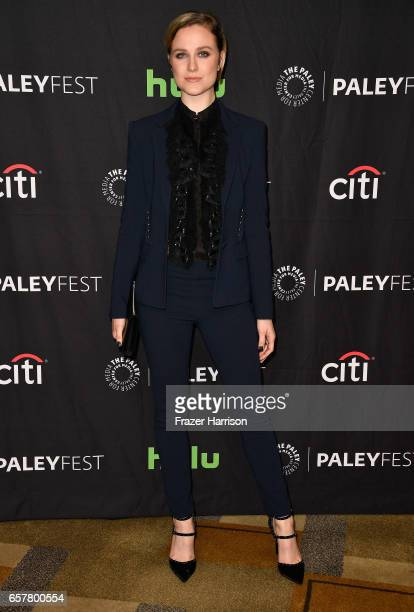 Actress Evan Rachel Wood arrives at the 'Westworld' screnning and panels at The Paley Center For Media's 34th Annual PaleyFest Los Angeles at Dolby...