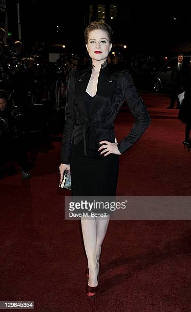 Actress Evan Rachel Wood attends a Gala Screening of 'The Ides Of March' during the 55th BFI London Film Festival at Odeon Leicester Square on...