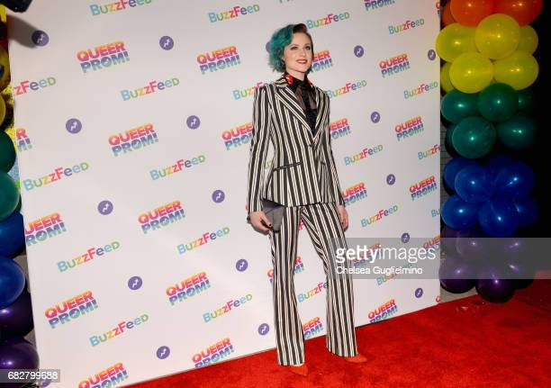 Actress Evan Rachel Wood attends Buzzfeed hosts the 1st Inaugural Queer Prom for LGBT Youth in Los Angeles at Siren Studios on May 13 2017 in...