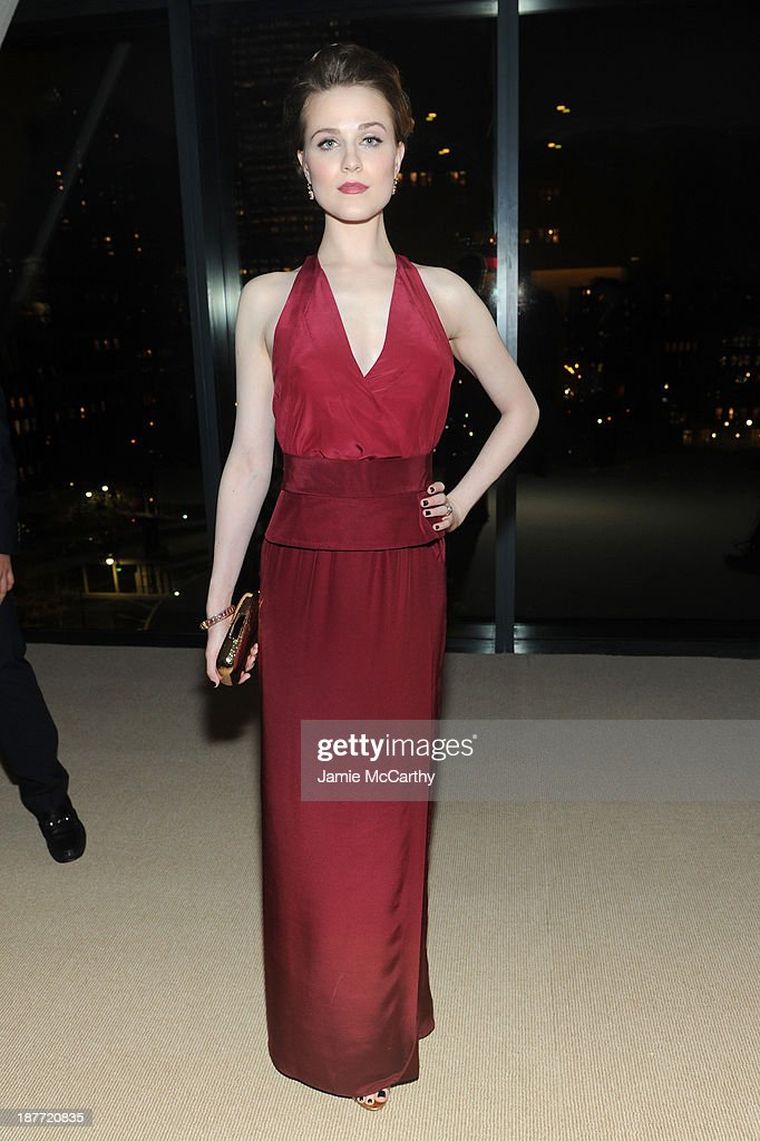 Actress <a gi-track='captionPersonalityLinkClicked' href=/galleries/search?phrase=Evan+Rachel+Wood&family=editorial&specificpeople=203074 ng-click='$event.stopPropagation()'>Evan Rachel Wood</a> attends CFDA and Vogue 2013 Fashion Fund Finalists Celebration at Spring Studios on November 11, 2013 in New York City.