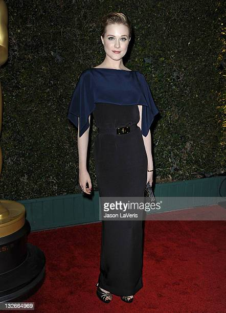 Actress Evan Rachel Wood attends the Academy of Motion Picture Arts and Sciences' 3rd annual Governors Awards at Hollywood Highland Center on...